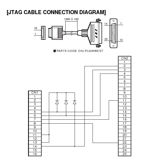 Sharp Zaurus JTAG cable schematics