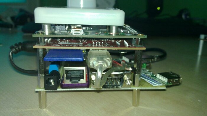 All with reversed BeagleBoard - side view