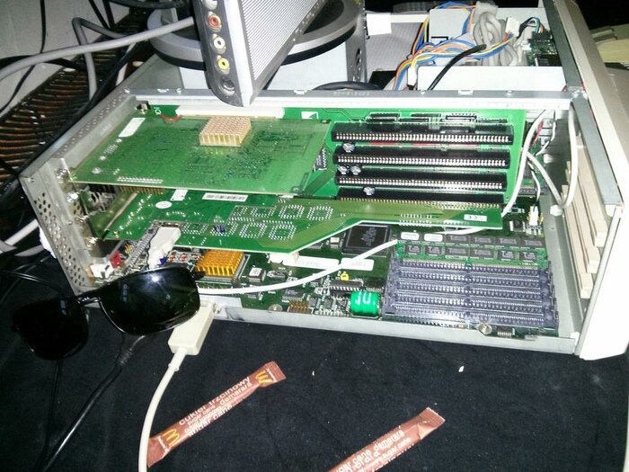 Amiga 4000 with PCI daughterboard