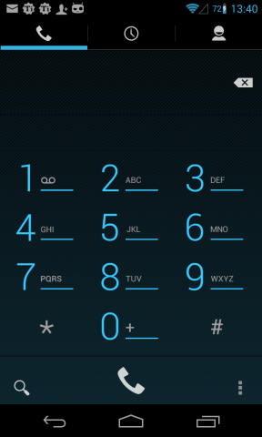 Dialer on Nexus - keyboard