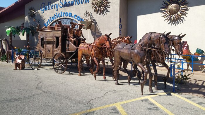 Stagecoach made from metal