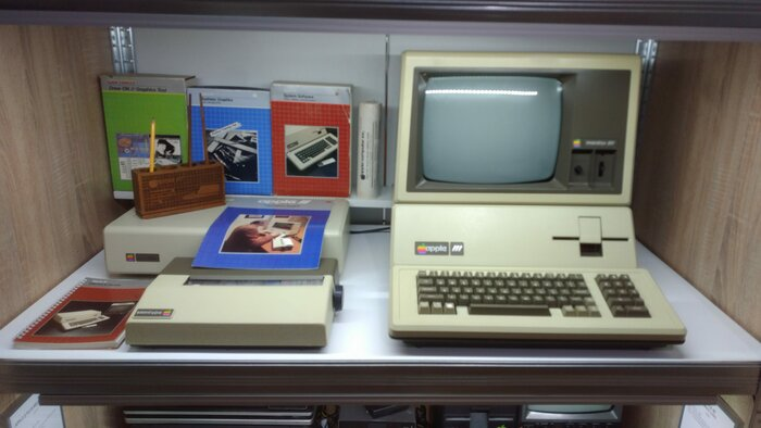 Apple III with dedicated monitor and some peripherals