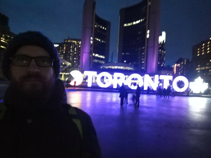Me and TORONTO city sign