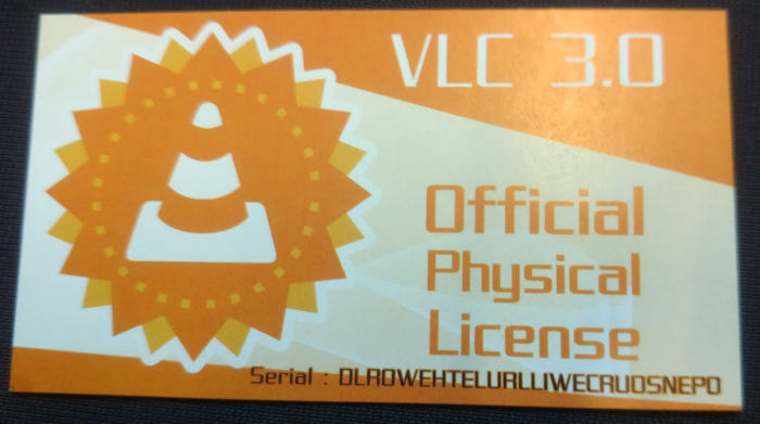 Physical VLC license